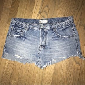 Free People Super Short Button Fly Jean Shorts